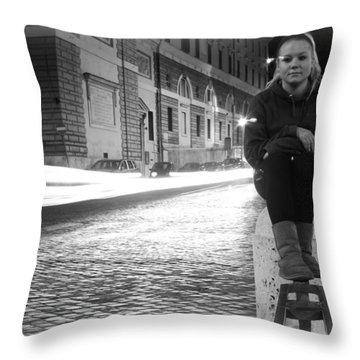 Cruising Cars Throw Pillow by Kevin Flynn