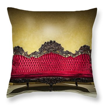 Crushed In Red Throw Pillow by CJ Schmit