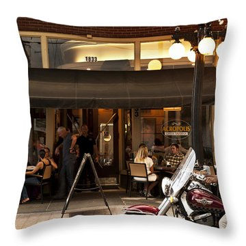 Throw Pillow featuring the photograph Crusin' Ybor by Steven Sparks