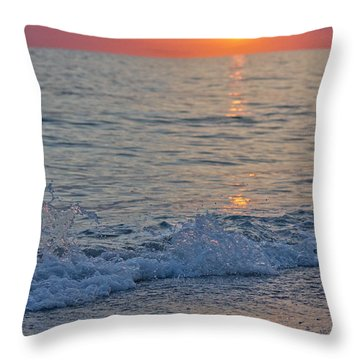 Crystal Blue Waters At Sunset In Treasure Island Florida 2 Throw Pillow