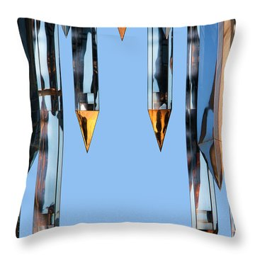 Crystal Cathedral Tower Points Throw Pillow