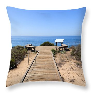 Crystal Cove State Park Ocean Overlook Throw Pillow by Paul Velgos