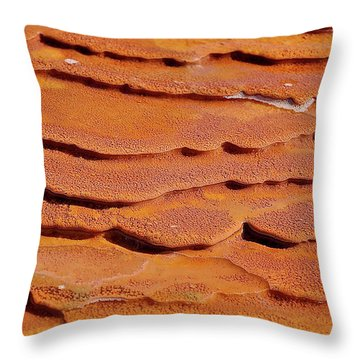 Throw Pillow featuring the photograph Crystal Geyser by Britt Runyon