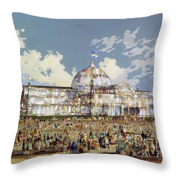 Crystal Palace New York Throw Pillow by WS Parkes