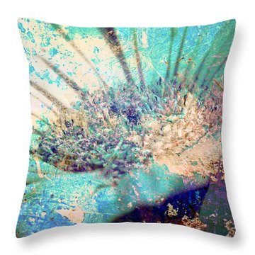Crystal Pastel Blooms Throw Pillow by Greg Sharpe
