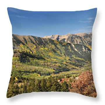 Crystal Valley Throw Pillow by Marty Koch
