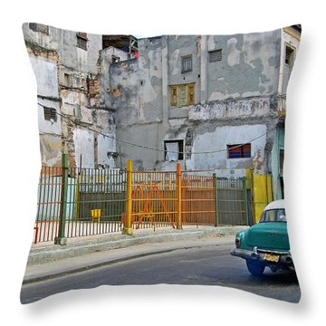 Throw Pillow featuring the photograph Cuba Vintage American Car  by Lynn Bolt