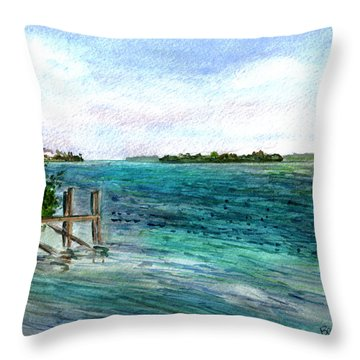 Cudjoe Bay Throw Pillow
