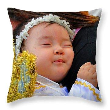 Cuenca Kids 1 Throw Pillow by Al Bourassa