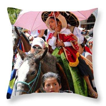 Cuenca Kids 103 Throw Pillow by Al Bourassa