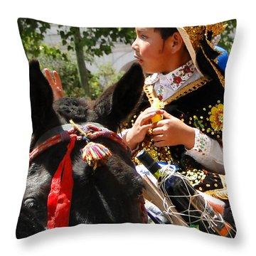 Cuenca Kids 113 Throw Pillow by Al Bourassa