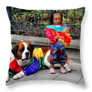 Cuenca Kids 124 Throw Pillow by Al Bourassa