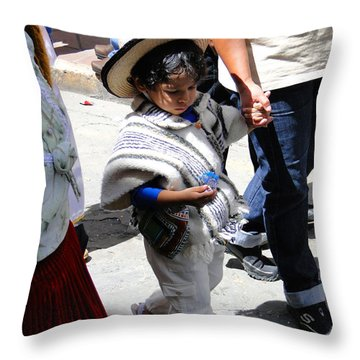 Cuenca Kids 130 Throw Pillow by Al Bourassa