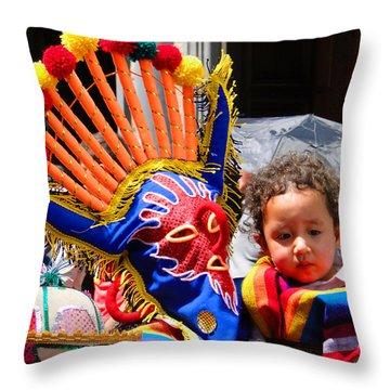 Cuenca Kids 132 Throw Pillow by Al Bourassa