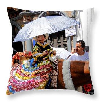 Cuenca Kids 147 Throw Pillow by Al Bourassa