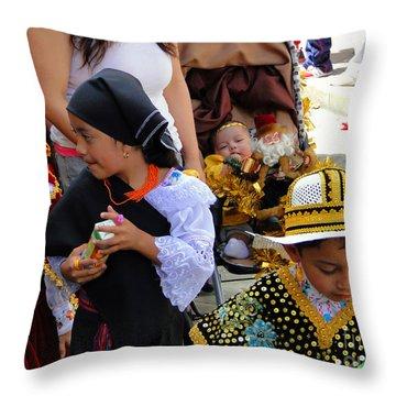 Cuenca Kids 149 Throw Pillow by Al Bourassa