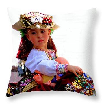 Cuenca Kids 193 Throw Pillow by Al Bourassa