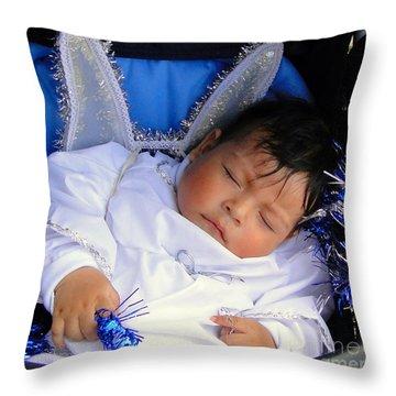 Cuenca Kids 201 Throw Pillow by Al Bourassa