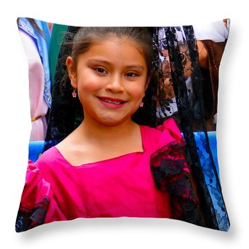 Cuenca Kids 213 Throw Pillow by Al Bourassa