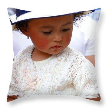 Cuenca Kids 24 Throw Pillow by Al Bourassa