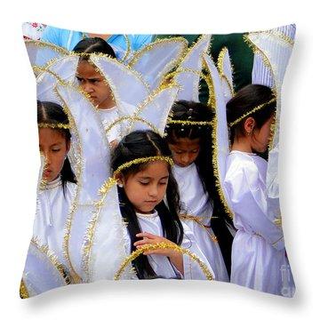 Cuenca Kids 42 Throw Pillow by Al Bourassa