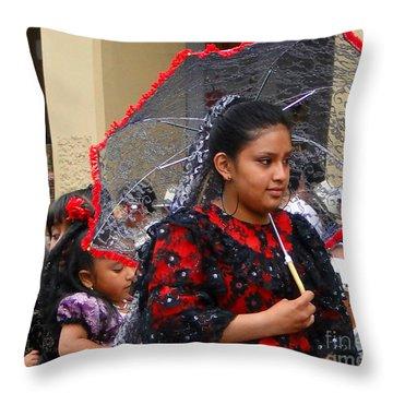 Cuenca Kids 45 Throw Pillow by Al Bourassa