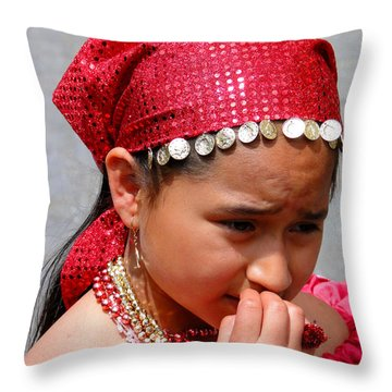 Cuenca Kids 53 Throw Pillow by Al Bourassa