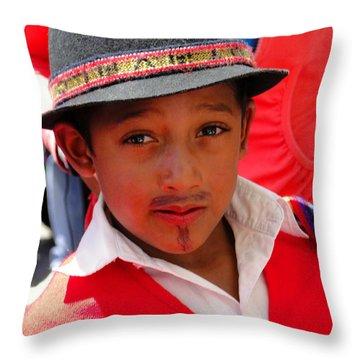 Cuenca Kids 57 Throw Pillow by Al Bourassa