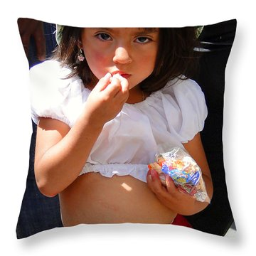 Cuenca Kids 60 Throw Pillow by Al Bourassa