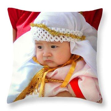 Cuenca Kids 69 Throw Pillow by Al Bourassa