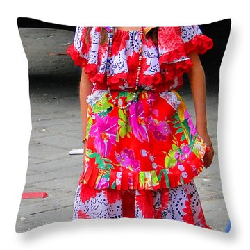 Cuenca Kids 90 Throw Pillow by Al Bourassa