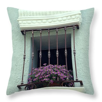 Throw Pillow featuring the photograph Cuernavaca Window  Mexico by John  Mitchell
