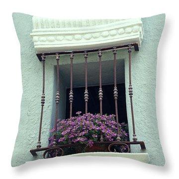 Cuernavaca Window  Mexico Throw Pillow