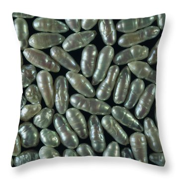 Freshwater Pearls Throw Pillows