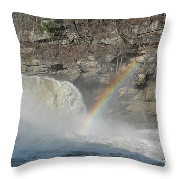 Throw Pillow featuring the photograph Cumberland Falls by Tiffany Erdman