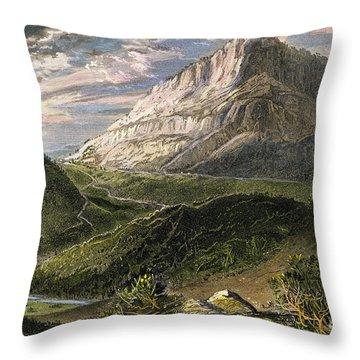 Cumberland Gap, 1872 Throw Pillow