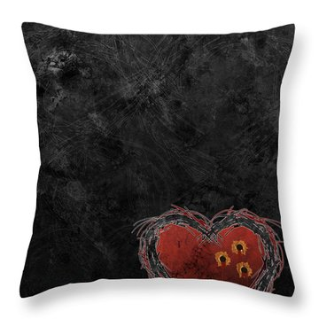 Throw Pillow featuring the digital art Cupid's Upgrade by Kenneth Armand Johnson