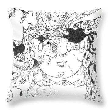 Curiosity Throw Pillow by Helena Tiainen