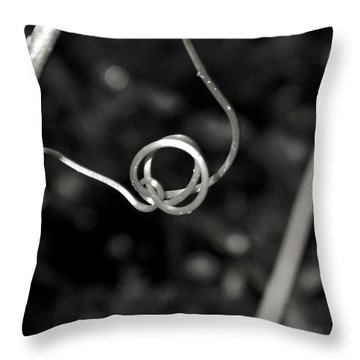 Throw Pillow featuring the photograph Curls And Swirls by Ester  Rogers