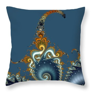 Curly Curly Throw Pillow