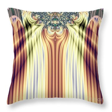 Curtain Call Spotlights Fractal 133 Throw Pillow by Rose Santuci-Sofranko