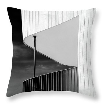 Curved Balcony Throw Pillow