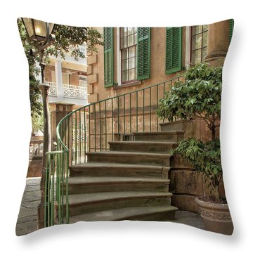 Curved Steps In Savannah Throw Pillow