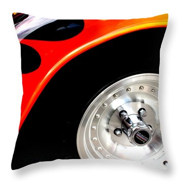 Throw Pillow featuring the digital art Curves Of Flames by Tony Cooper