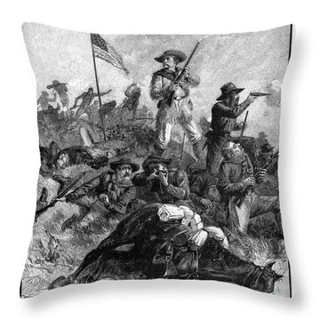 Custers Last Fight Throw Pillow by Granger
