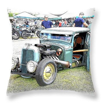 Custom 32 Ford Pickup Throw Pillow by Steve McKinzie