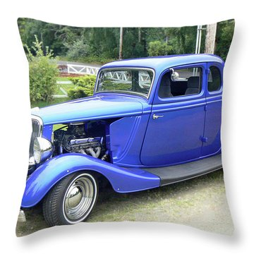 Custom 34 Ford Throw Pillow by Pamela Patch