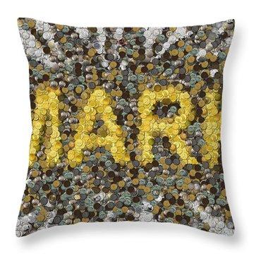 Custom Mark Mosaic Coins Throw Pillow by Paul Van Scott