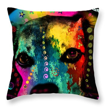 Dog Digital Art Throw Pillows