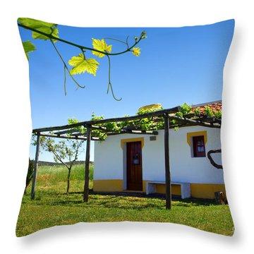 Cute House Throw Pillow by Carlos Caetano